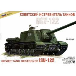 ISU-122 soviet tank destroyer.