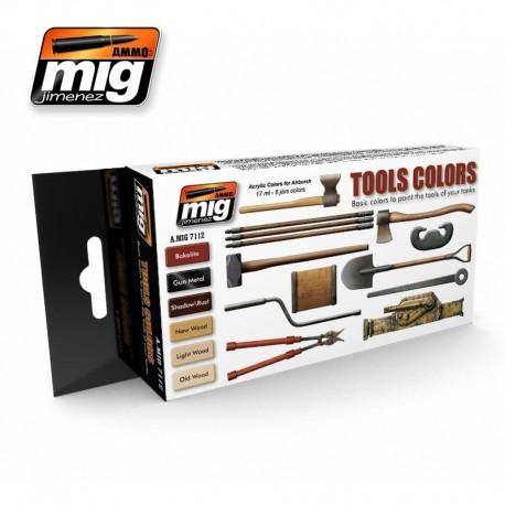 Set de colores para herramientas. AMIG 7112