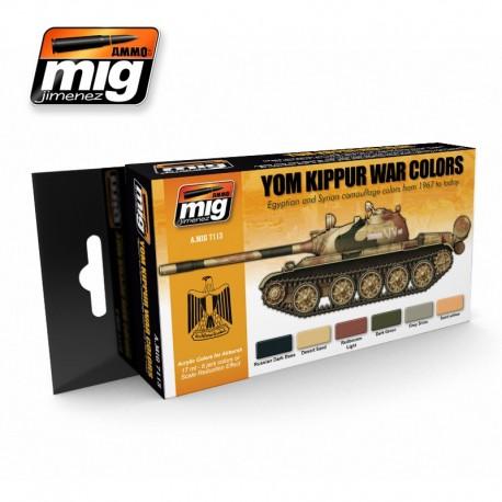 Set de colores de la Guerra del Yom Kippur. AMIG 7113