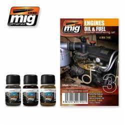 Set para motores; combustible y aceite. AMIG 7402