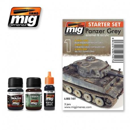 Set para vehículos Gris Panzer. AMIG 7407