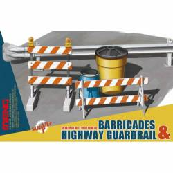 Barricades and highway guardrail. MENG SPS-013