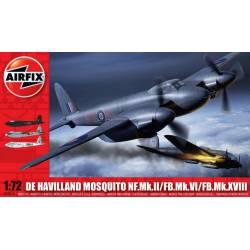 De Havilland Mosquito MkII/VI/XVIII. AIRFIX A03019
