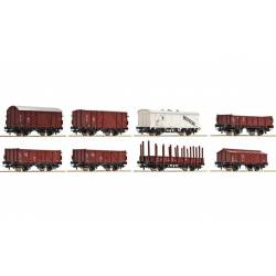 8-piece set of freight cars, DRG.