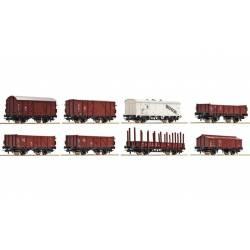 Set de 8 vagones de mercancía, DRG. ROCO 44003