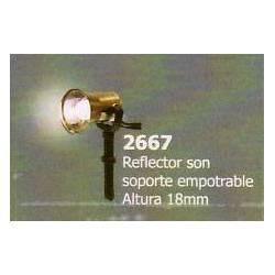 Reflector con vástago. ANESTE 2667