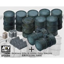 Bidones de combustible alemanes. AFV CLUB 35266