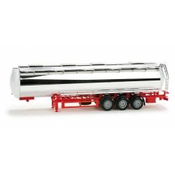Chromium plated foodtank trailer.