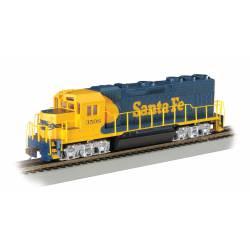 Locomotora diesel Santa Fe EMD GP40, DCC.