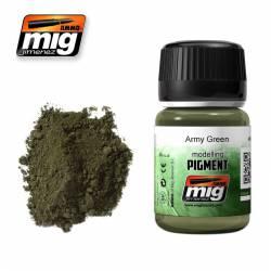 Pigmento verde ejército. 35 ml. AMIG 3019
