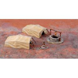Desert well and tents. ITALERI 6148