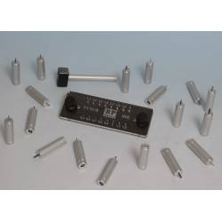 Punch and die set. 0,5 - 2,0 mm. RP-PD