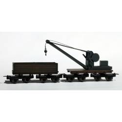 Crane and boom car set. MINITRAINS 5120