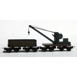 Grúa con vagón de apoyo. MINITRAINS 5120