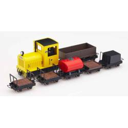 Tren minero Gmeinder con seis vagones. MINITRAINS 5095