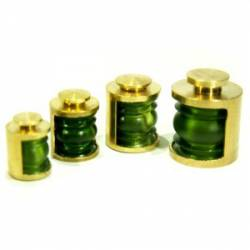 Ship lamp, green. 4 mm. (x4)