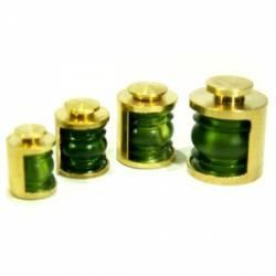 Lámpara de barco, verde, 7 mm (x4).