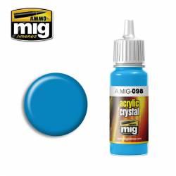 Crystal light blue. AMIG 098
