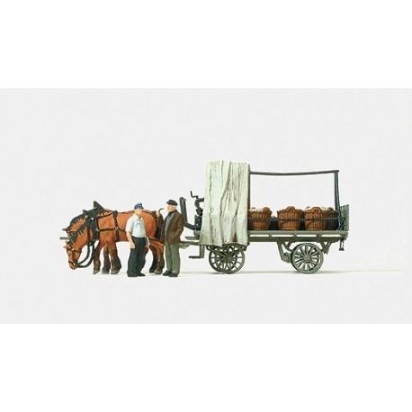 Farm wagon with load. PREISER 30449