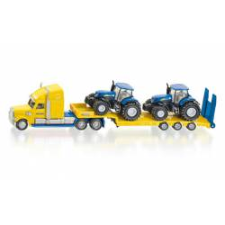 Truck with New Holland tractors.