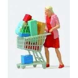 Mujer con carrito de la compra. PREISER 28081