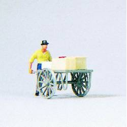 Man with cart.
