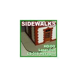 Sidewalks, hexagon.