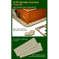 Sidewalks, concrete. PROSES LS-019