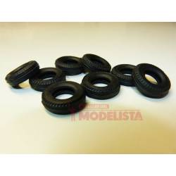Tires of 22 mm. Set of 8 units
