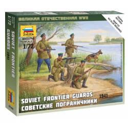Guardias fronterizos soviéticos.