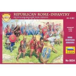 Infantería republicana romana.