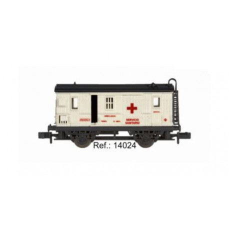 Furgón Ambulancia Cruz Roja, RENFE. IBERTREN 14024