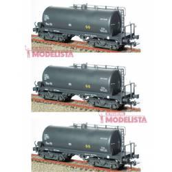 Set de tres cisternas de bogies, RENFE. KTRAIN 0754B