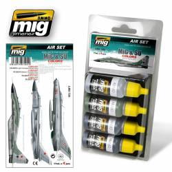 Set para cazas MIG y SU grises y verdes.