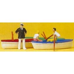 Alquilando barcas.