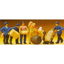 Delivery Men with Loads.