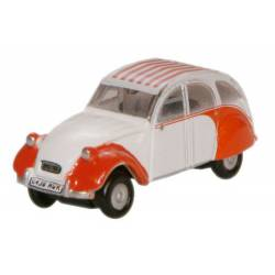 Citroen 2CV Dolly red/white. OXFORD NCT003