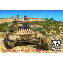 Valentine Mk.III with rotatrailer. AFV CLUB 35201
