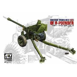 British Ordnance QF- 6 Pounder antitank gun. AFV CLUB 35217