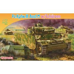 Pz.Kpfw.III Ausf.M w/Schurzen. DRAGON 7323