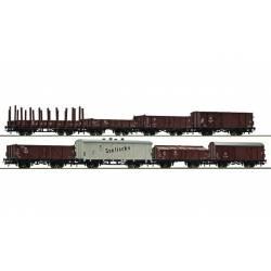 Set de 8 vagones de mercancía, DDR. ROCO 67127