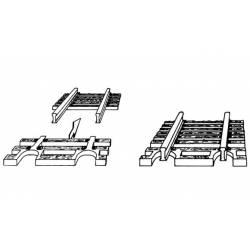 Sleeper sections for ends of flexible track. FLEISCHMANN 22215