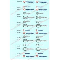 Euro 4000 locomotive decals. SUDEXPRESS