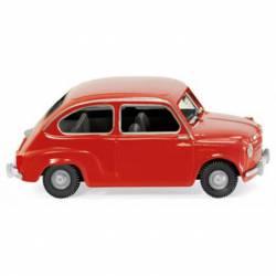 Fiat 600, red.