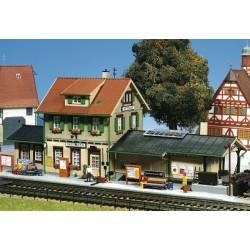Estación de tren Dettingen. KIBRI 9507