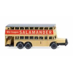 "Berlin double-decker bus D 38 ""Salamander"". WIKING 087304"