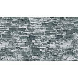 Muro de piedra natural.