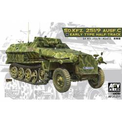 German Sd. Kfz. 251/9 Ausf. C. AFV CLUB 35251