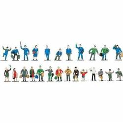 H0 Railway figures (x24). ROCO 40000