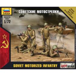 Infantería motorizada soviética.